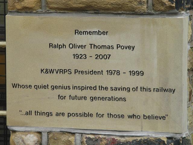 At Haworth station.