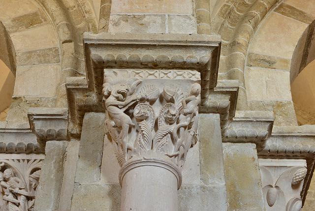 Vezelay, chapiteau, La luxure et le désespoir