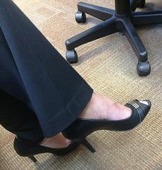 black heels at work