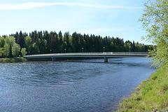 Finland, Bridge to Turkansaari Island through the Left Sleeve of the Oulujoki River