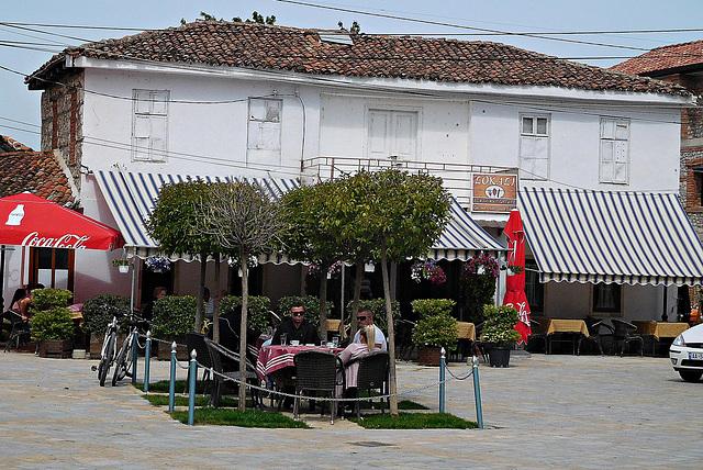 Tushemisht: village square