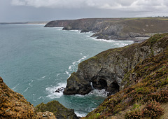 View south over Trevellas Cove