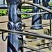 Sculptural Railings. Newcastle Quayside