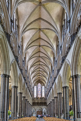 Salisbury Cathedral - nave (3xPiP)