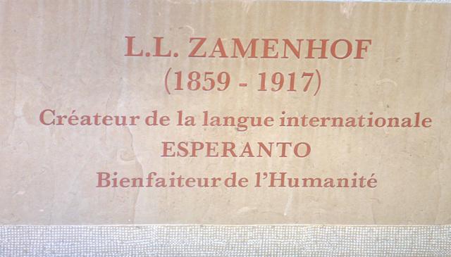 Skulpturo de L.L.Zamenhof en Bolonja sur maro