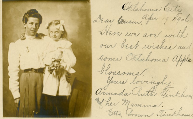 Armada and Her Mamma with Oklahoma Apple Blossoms, Oklahoma City, Okla., 1906