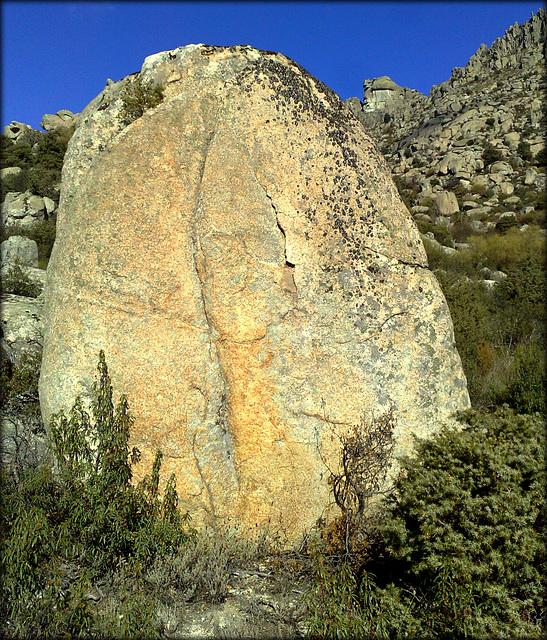 Substantial granite boulder