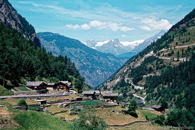 Eisten in Saas Valley of Valais in Switzerland in 1976