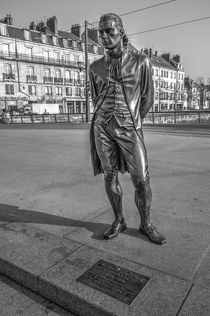 BESANCON: Statue du Marquis Jouffroy d'Abbans 02.