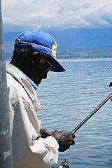Fishing in Lake Shkodër near Zogaj