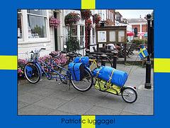 Patriotic luggage - Tenterden - 21.7.2006