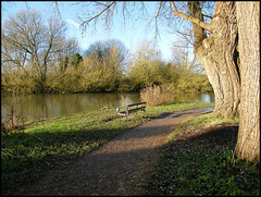 Thames river path