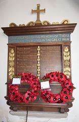 War Memorial, Saint Michael's Church, Sotterley, Suffolk