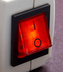 Eingeschaltet - switched on - allumé