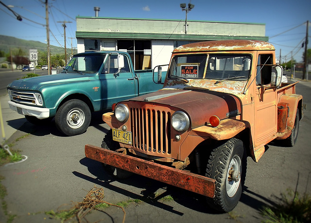Willys (1947) with Chevy friend