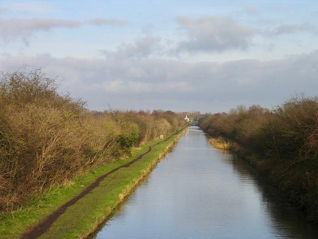 Rushall Canal looking towards Rushall Locks.