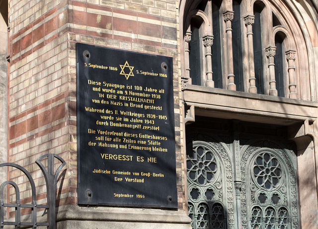 "Berlin New Jewish Synagogue ""Never forget"" (#2077)"