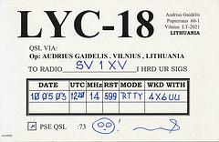 QSL LYC-18 (back)