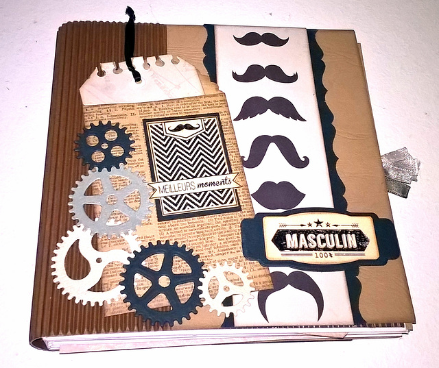 Scrapbooking - Album masculin
