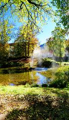 Fontäne im Park. ©UdoSm
