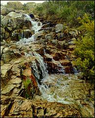 Mountain stream and cascade