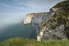 The white chalk cliffs of Étretat