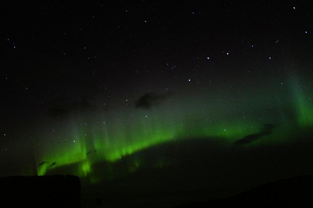Faroe Islands, Aurora borealis, Northern lights, windy night