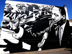 Black and white mural
