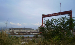 View to the abandoned shipyards of Lisnave, at Margueira.