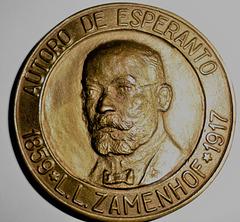 Jubilea medalo. 100 jaroj de Esperanto.
