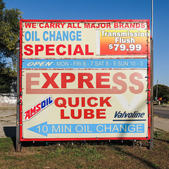 Favorite oil change sign.