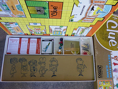 """""""Clue"""" game board and pices"""