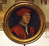 Portrait of a Man in a Red Cap by Holbein in the Metropolitan Museum of Art, February 2014