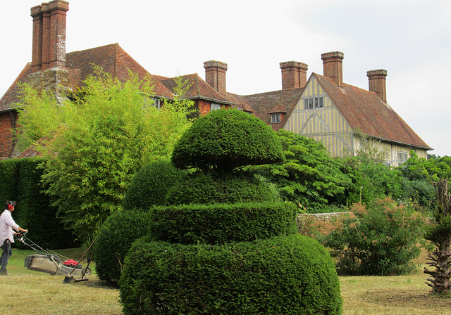 Mowing at Great Dixter.
