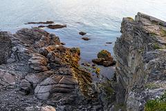 long light rocky coast