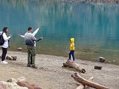 Fotoshooting am Moraine Lake