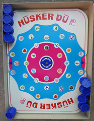 Husker Du game board and pieces