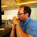 Me, enjoying a Belgian beer