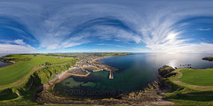Stonehaven Harbour - Aerial Photosphere 07-07-2016