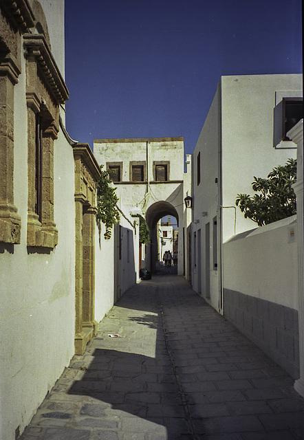 Enjoying the narrow lanes of Lindos
