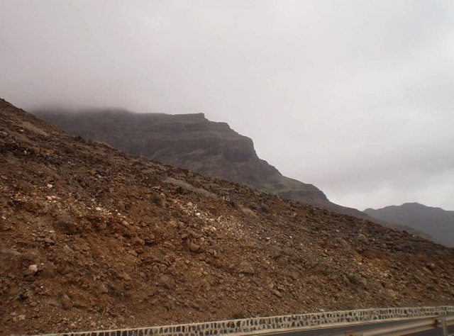 Low clouds on the mounts.