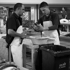 Workers at the Funchal Fish Market