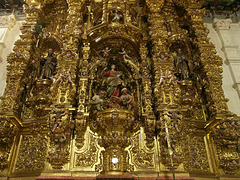 PICT11077ac Gilded Altar Retable Full of Little Angels
