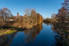 Blick von der Weinbrücke zum alten Wasserturm