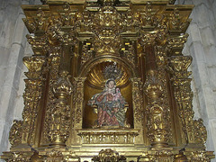 PICT11078ac Gilded Retable  with a Virgo and Child in Majesty
