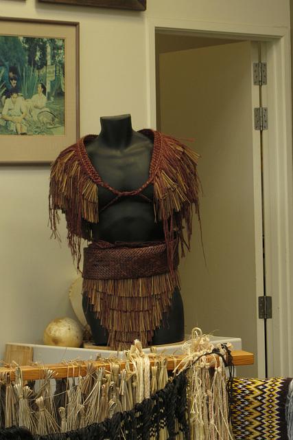 Traditional Maori garment made by students at the Maori Cultural School in Rotorua
