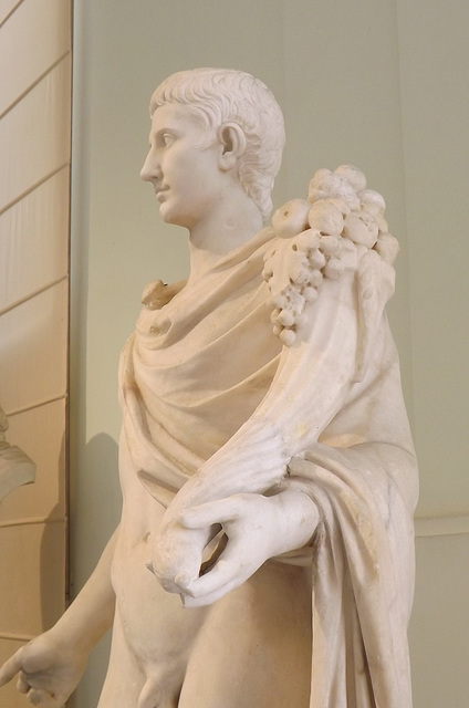 Detail of a Male Figure Restored as Augustus in the Naples Archaeological Museum, July 2012