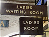 Ladies Waiting Room signs