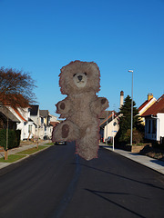 Giant Teddy Bear attacks small city in Denmark