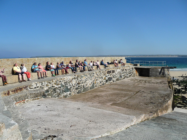 Soaking up the sun ~ HFF from St Ives